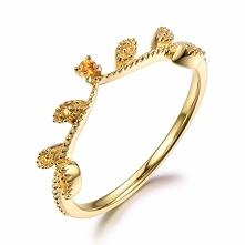 Citrine wedding ring