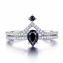 Crown Spinel Engagement ring
