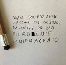 Poniedziałek-czarny humor:-)