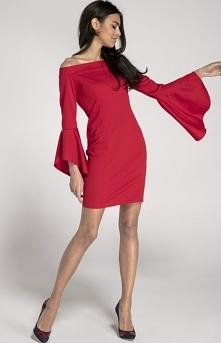 Ołówkowa sukienka czerwona ...