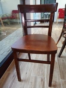 stare drewniane krzesło - j...