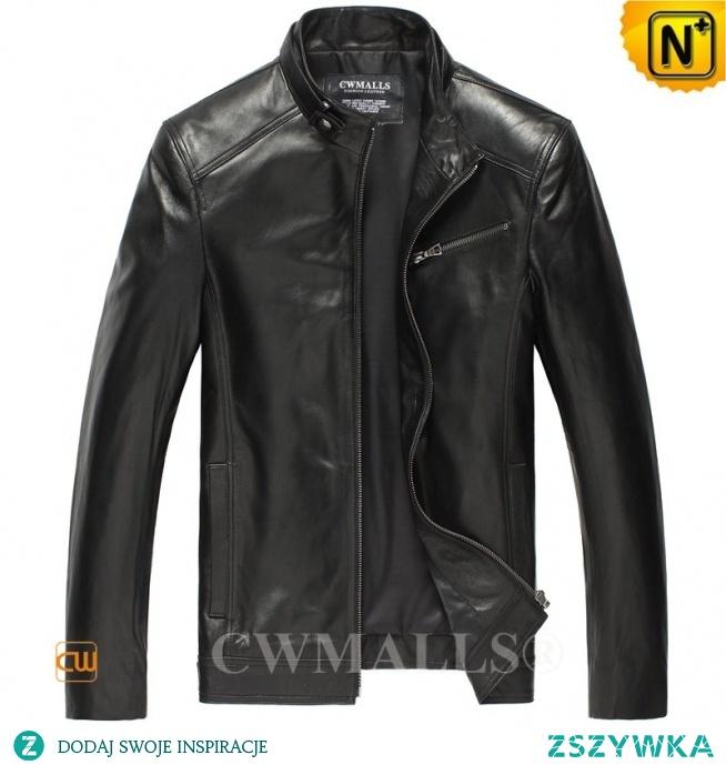 Haute Couture | Men Leather Bomber Jacket CW806037 | CWMALLS.COM