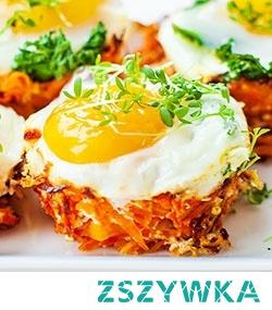 Jajka zapiekane w marchewkowych koszyczkach