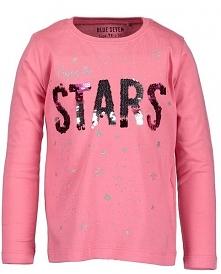 Blue Seven Dziewczęcy T-Shirt Stars 110 Różowy