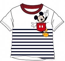 Disney By Arnetta Koszulka Chłopięca Mickey Mouse 80 Biały/Niebieski