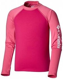 Columbia Dziewczęca Koszulka Pływacka Sandy Shores Ls Sunguar 128 Czerwona