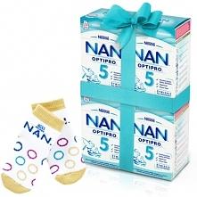 Zestaw 4x NESTLE NAN OPTIPRO 5 800g Mleko modyfikowane w proszku Dla dzieci o...