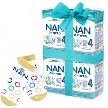 Zestaw 4x NESTLE NAN OPTIPRO 4 800g Mleko modyfikowane w proszku Dla dzieci o...