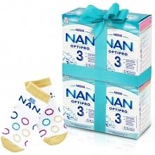 Zestaw 4x NESTLE NAN OPTIPRO 3 800g Mleko modyfikowane w proszku Dla dzieci o...