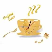 Zegar ścienny filiżanka kaw...