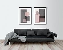 Dwa plakaty - Koła kwadraty