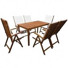Zestaw mebli do ogrodu, 13-częściowy, drewno akacjowe GXP-683115