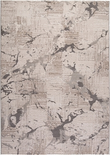 Dywan Bolero w kleksy srebrny 80 x 150 cm