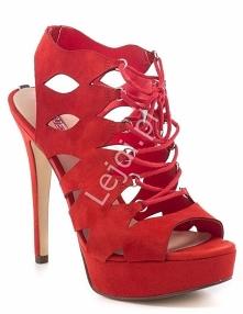 Czerwone sandałki GUESS KEL...