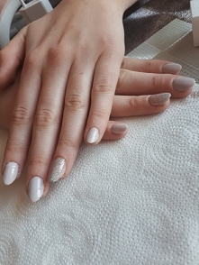 flexy gel * grey nails * gl...