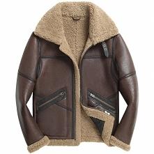 Custom Father's Day Gift | Men Sheepskin Aviator Jacket CW808309 | CWMAL...
