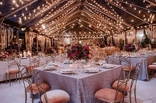 wedding party under a tent