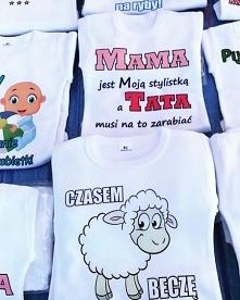Body niemowlęce ze śmiesznymi napisami