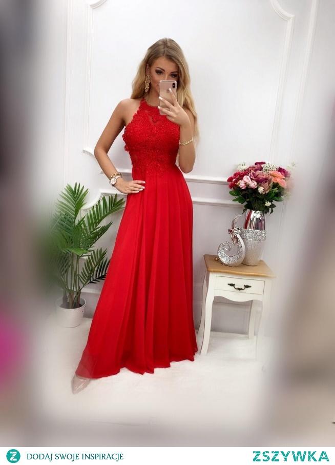 KLIKNIJ W ZDJECIE BY PRZEJŚĆ DO PRODUKTU SUKIENKOWO.COM FAVIANA - Luksusowa długa sukienka czerwona