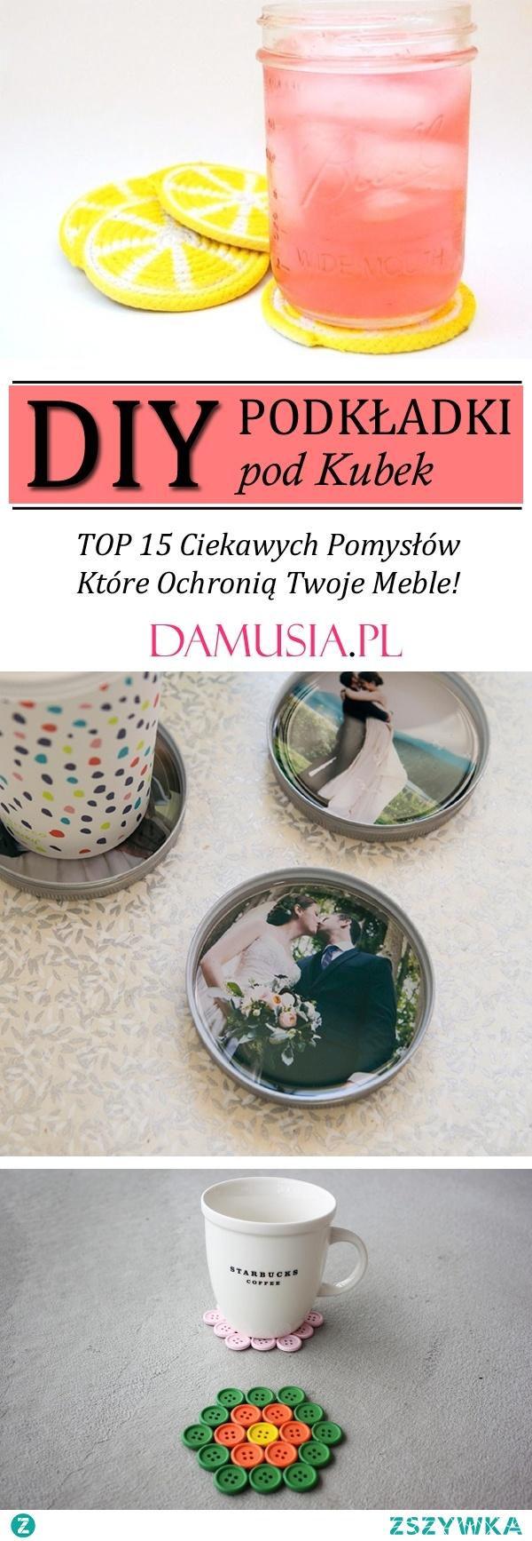 TOP 15 Ciekawych Pomysłów na DIY Podkładki pod Kubek Które Ochronią Twoje Meble!