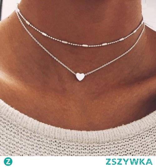 Podwójny łańcuszek z sercem do kupienia w sklepie silvona.pl w cenie 5,70 zł. Kliknij w zdjęcie, aby przejść do sklepu.
