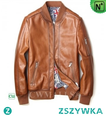 Father's Day Gifts | Men Calfskin Leather Motorcycle Jacket CW808050 | CWMALLS.COM