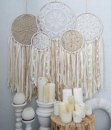 łapacze snów beże krem biel wesele ślub