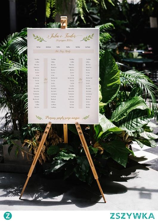 Plakat / Obraz Plan Stołów - Ślub - Wesele