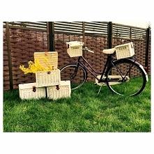 Wiklinowy kuferek na rower....