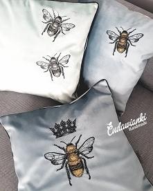 Poduszki z pszczołą 260-360zł Poduszki w pszczoły szyte na indywidualne zamówienia fb Cudawianki Handmade