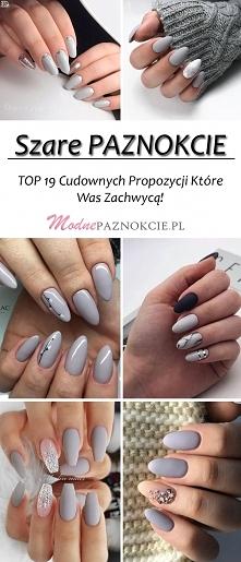 Szare Paznokcie – TOP 19 Cu...