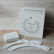Zestaw ślubny PASTELOVE - 2 pudełka + 2 wieszaki