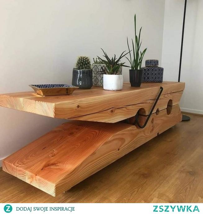 Taki trochę inny stolik, projekt Vincent Bergogne.