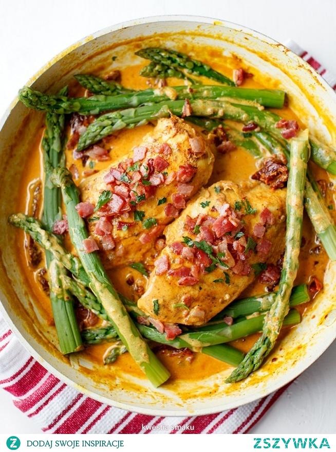 kurczak w sosie z suszonych pomidorów
