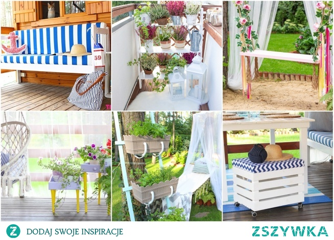 15 pomysłów DIY na balkon lub taras - Twoje DIY