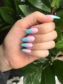 #ombre #pink #and #blue