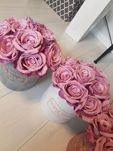 Piękne róże w zamszowym boxie