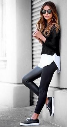 Skórzane spodnie <333 Kl...