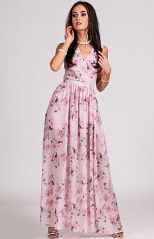 Kopertowa sukienka maxi w k...