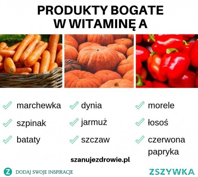 Produkty bogate w witaminę A