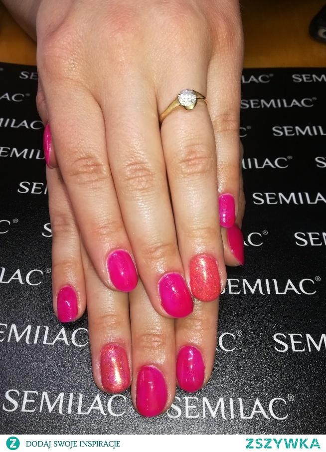 Semilac 103, syrenka neon pink indigo