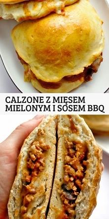 Calzone z mięsem mielonym i...