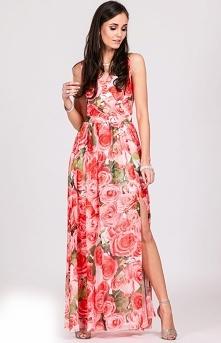Przepiękna długa sukienka w...