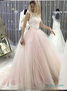 Różowo-białe # ballgown #we...