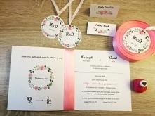 Zaproszenia i dodatki weselne. Wiecej na fb/paniróża lub poligrafiapr@interia.pl