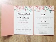Zaproszenia oraz dodatki weselne. Wiecej na instagram/poligrafiapr lib fb/pan...