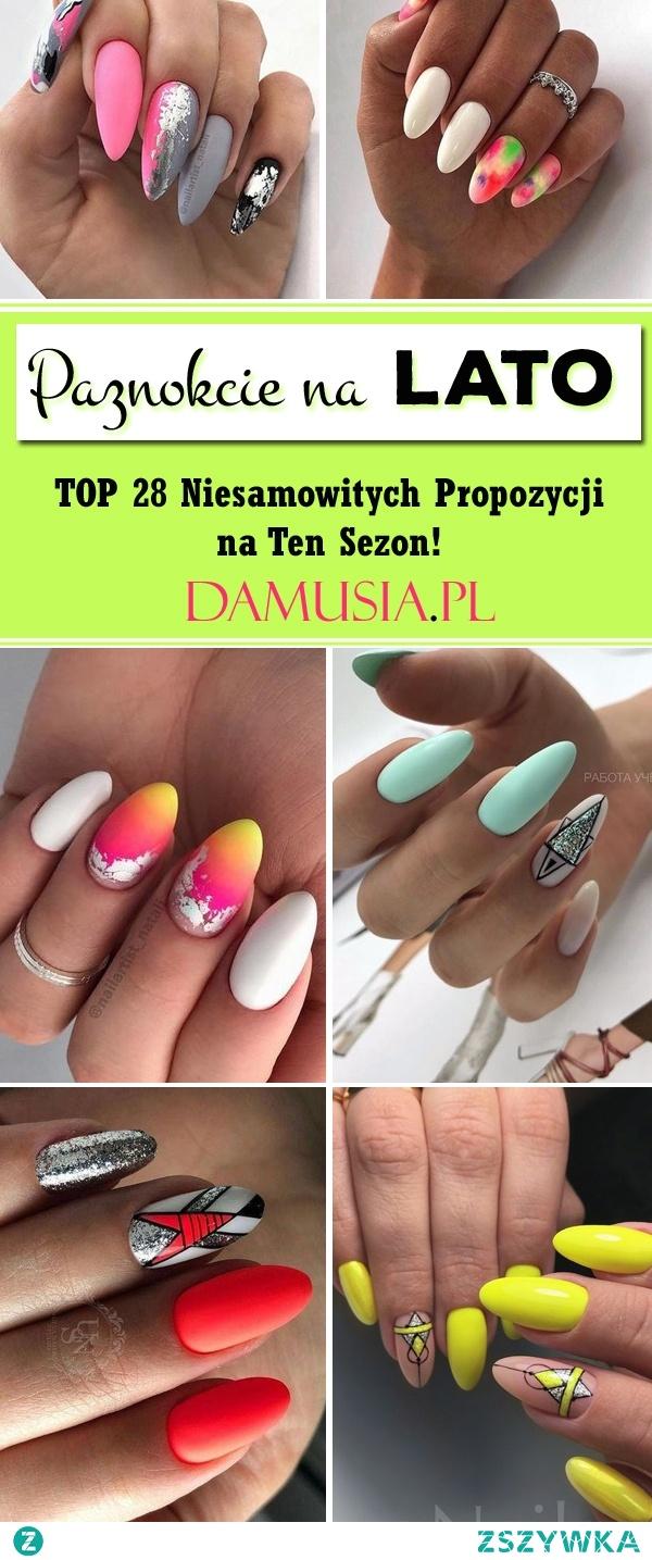 Modny Manicure na Lato – TOP 28 Niesamowitych Propozycji