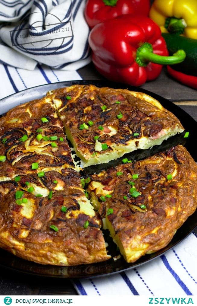 Omlet gospodarski (z ziemniakami, cebulką i boczkiem)