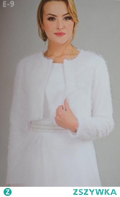 sweterek z dzianiny do sukienki ślubnej