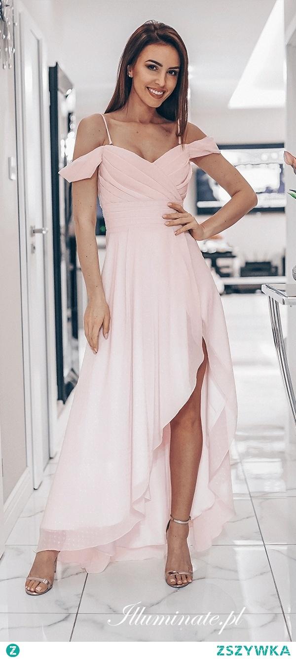 Sukienka dla druhny w pudrowym różu od illuminate.pl <3